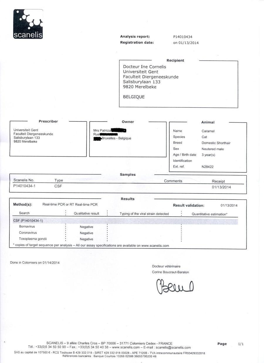 1Caramel - LCR - PCR du 08.01.14