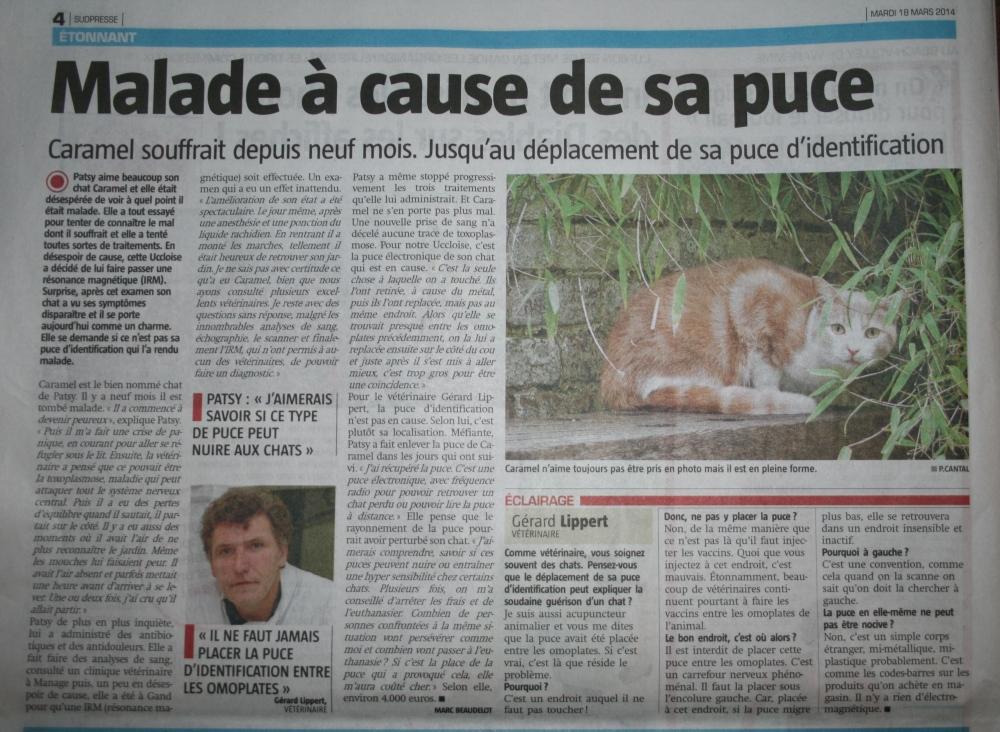 Caramel dans le journal - La Capitale -  du 18 mars 2014 (page 4)
